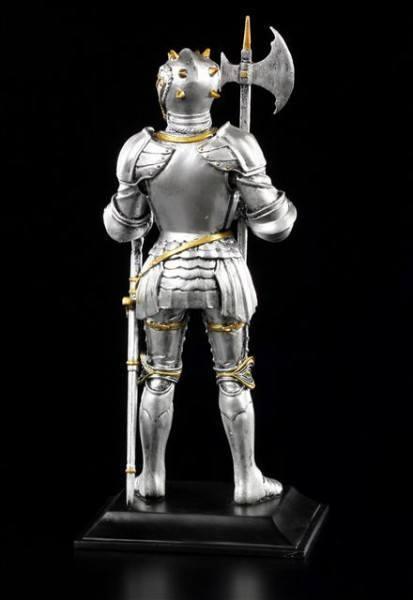 Ritter Figur mit Hellebarde und Schwert