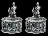 Knight Box Set of 2 - silver colored