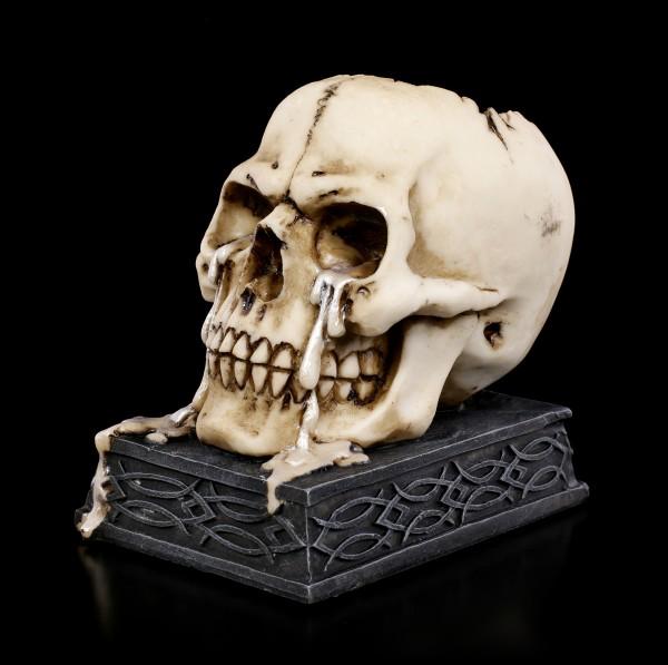 Skull Tealight Holder - Tears of Time