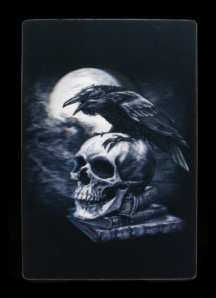 3D Postkarte mit Raben - Poe's Raven
