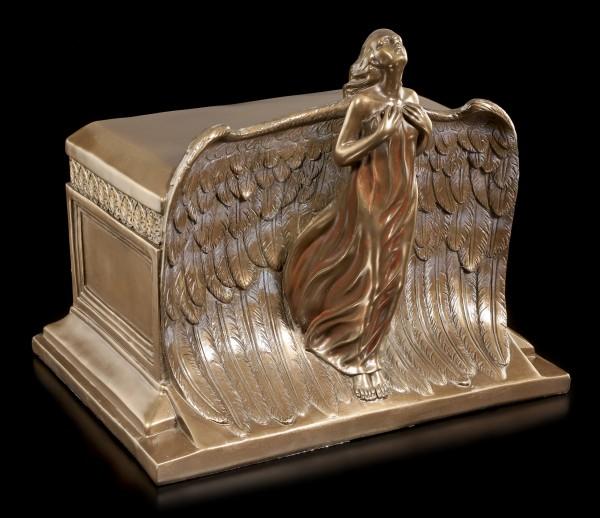 Tier-Urne mit Engel - Rising Angel
