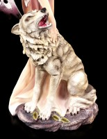 Elfen Figur - Lupana streichelt Wolf
