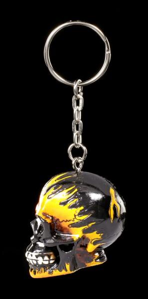 Skull Keyring - Flame Head