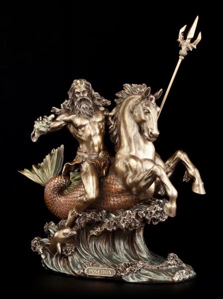 Poseidon Figur - Reitet auf Seepferd