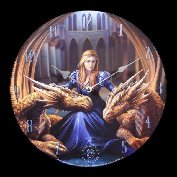 Wall Clock with Dragons - Fierce Loyalty