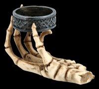 Skeletthand Teelichthalter - 2er Set