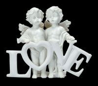 Engelfiguren mit LOVE Schild