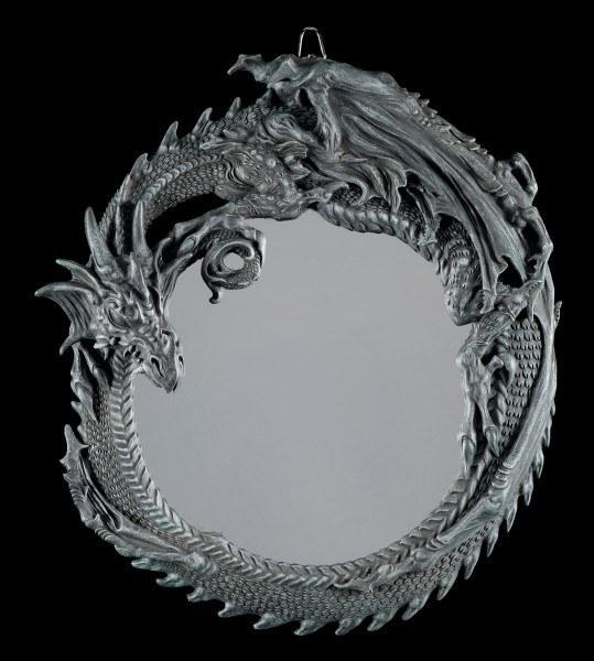 Drachen Wandspiegel - Dark Guardian