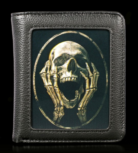 Wallet with 3D Skull - The Scream