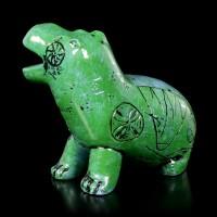 Ancient Egyptian Figurine - Green-Blue Hippo