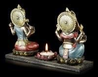 Tealight Holder - Ganesha Figurine with Krishna