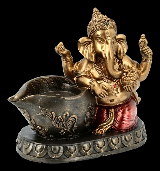 Ganesha Figurine with Tealight Holder