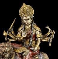 Hinduistische Götter Figur - Durga - Reitend auf Tiger