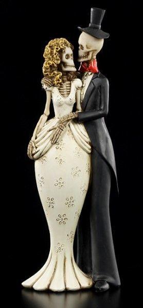 Skelett Figur - Brautpaar - Bis der Tod uns scheidet - klein