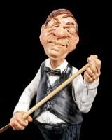 Billiard Player Figurine Chews Cue - Funny Sports