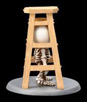 Skelett Figur - Lucky unter Leiter