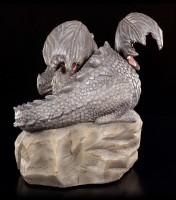 Garten Figur - Drache Volatilus auf Stein