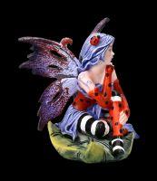 Elfen Figur - Mini Fee mit Marienkäfer