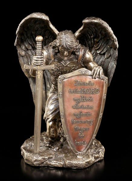 Knight Angel Figurine - Praise be to the Lord