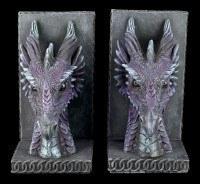 Drachen Buchstützen Set - Lila