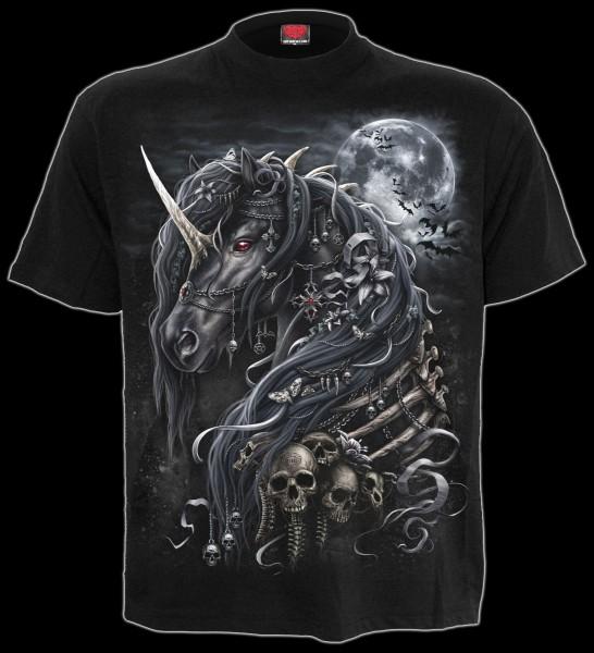 Spiral T-Shirt Gothic Einhorn - Dark Unicorn