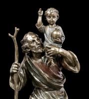 St. Christopherus Figur mit Jesuskind