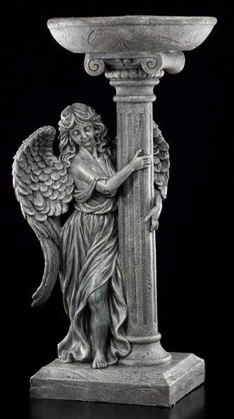 Engel Gartenfigur - Vogeltränke