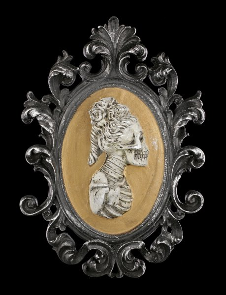 Wall Plaque Skeleton - Madame Portrait