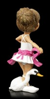 Funny Job Figurine - Ballet Dancer with Swan