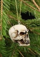 Skull Christmas Tree Decorations - Set of 6