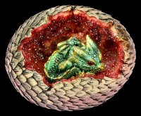 Dragon Figurine with LED - Geode Home - green