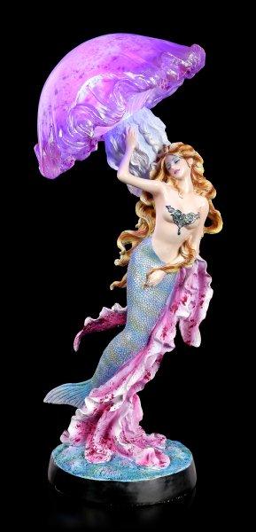 Mermaid Figurine with Jellyfish LED