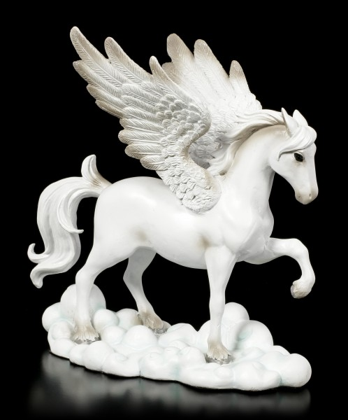 White Pegasus Figurine on Clouds