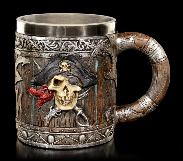 Tankard - Pirate Skull with two Motives