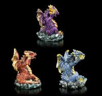 Dragon Figurines Set of 3 - No Evil
