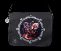 3D Messenger Bag with Skeleton Biker - Hellrider