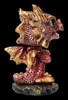 Wackelkopf Figur - Drache Bobling - rot