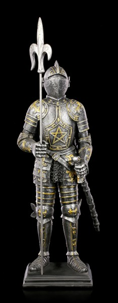Knight Figurine - Modred with Pentagram