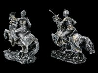 Knight Figurines Set on Horses