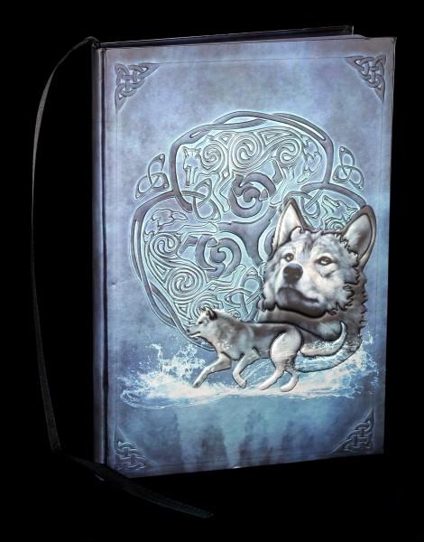 Notizbuch mit Wolf - Celtic Wolf