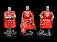Rote Kreuzritter Figuren - 6er Set