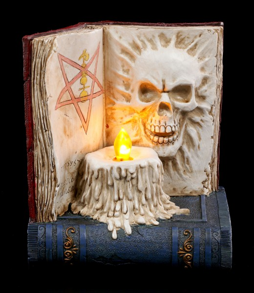 Book of Death with LED Candle