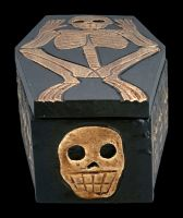 Skelett Sarg Schatulle aus Holz