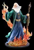 Zauberer Figur - Merlin beschwört Feuer