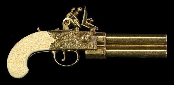 Englische Steinschloßpistole - Twigg