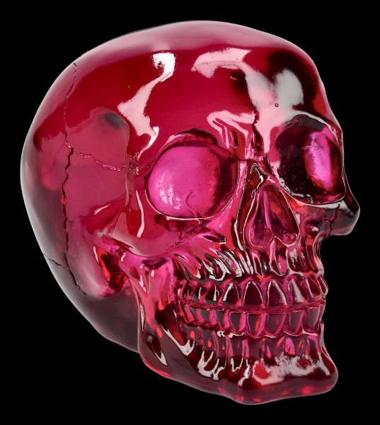 Skull - translucent purple