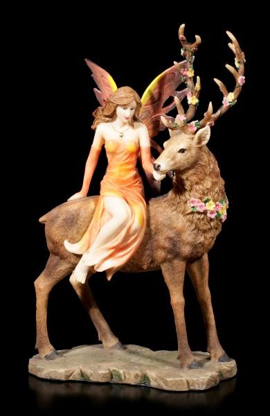 Elfen Figur - Luana auf Hirsch