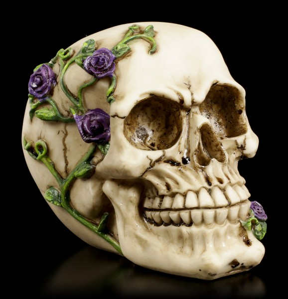 Skull - Rose from Beyond - purple