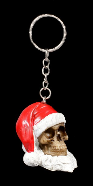 Santa Skull Keyring with Beard