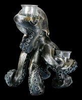 Große Kraken Figur als Teelichthalter